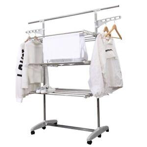 Sechoirs-de-vetements-mobile-Cheval-de-vetements-Tour-de-buanderie-Etendoir