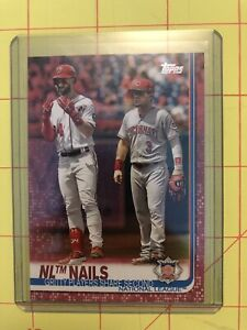 2019-Topps-Series-1-Bryce-Harper-Scooter-Gennett-NL-Nails-145-Nationals