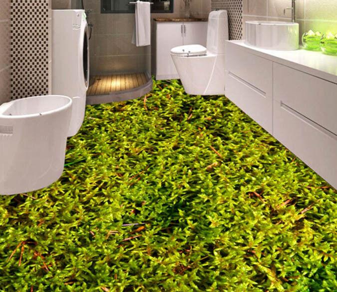 3D Green Plant Meadow 455 Floor WallPaper Murals Wall Print Decal AJ WALLPAPER
