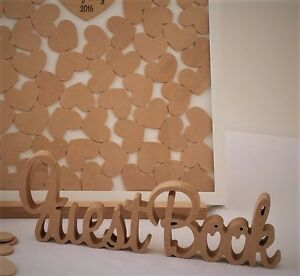 image is loading guest book mdf 10cm wooden letters freestanding sign