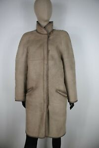 SHEARLING-MONTONE-SHEEPSKIN-Cappotto-Giubbotto-Jacket-Giacca-Tg-46-Donna-Woman-C