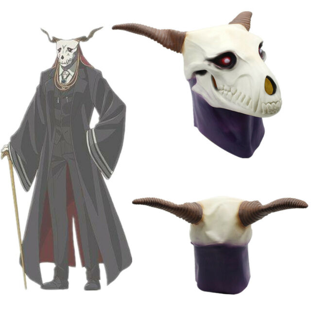 The Ancient Magus/' Bride Elias Ainsworth Mask Horn Latex Mask Halloween Props