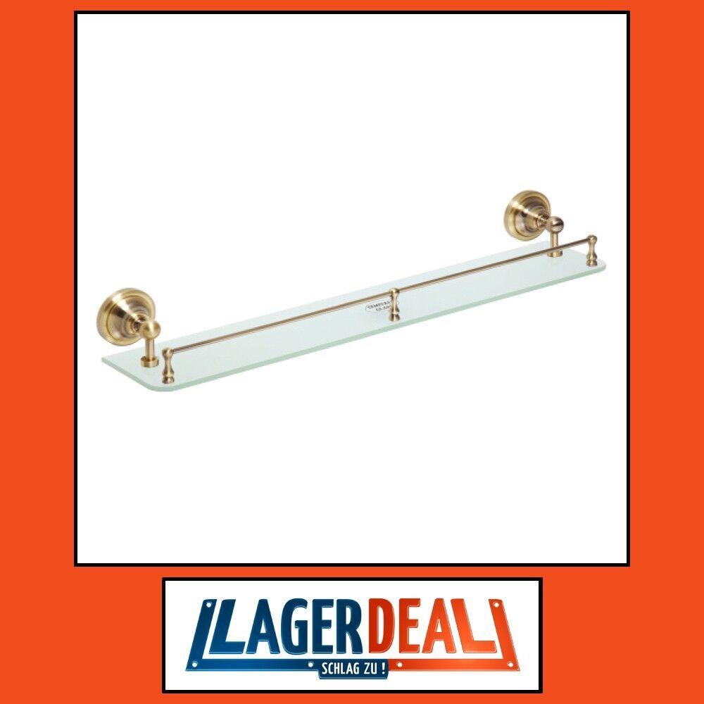 Glasablage 600x90x120mm Bronze Badartikel Bad Zubehör Ablage Glas Lagerdeal WOW