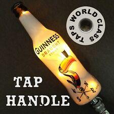 LIT Lighted GUINNESS BEER TAP HANDLE Toucan 1930s art bottle DRAUGHT STOUT led
