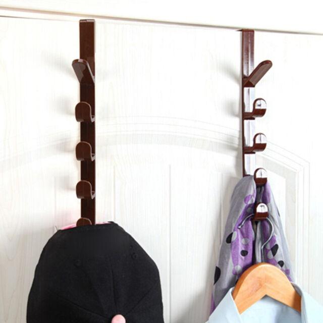 AU_ CW_ Over-The-Door Hook Rack Metal Hanger Storage Hanging Coat Hat Towel Bag