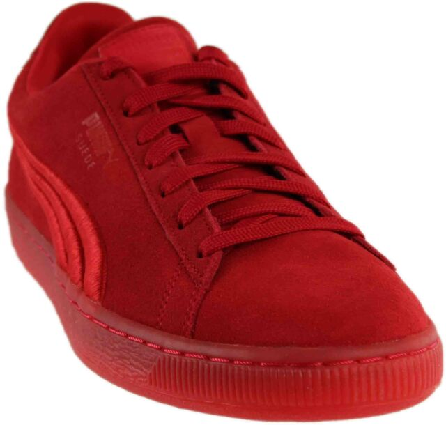 d5bf6bd5e263 PUMA Men s Suede Classic Badge Iced Fashion Sneaker High Risk Red 10 ...
