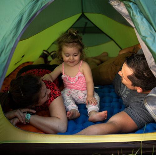 Outdoor Self Inflating Mattress Pad Air Camping Hiking Sleeping Mat Bed PillBE