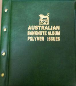 AUSTRALIAN-DECIMAL-1988-2017-POLYMER-BANKNOTE-Illustrated-ALBUM-GREEN-Colour