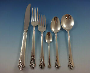 Damask-Rose-by-Oneida-Sterling-Silver-Flatware-Set-Service-53-Pieces-Place-Size