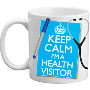 Brand-New-Keep-Calm-I-039-m-A-Health-Visitor-Gift-Nurse-Coffee-Tea-Mug-Present