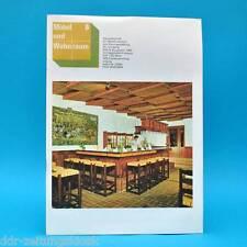 DDR Möbel und Wohnraum 8/1980 Parkhotel Leipzig Anbauküche Salzwedel Dänemark