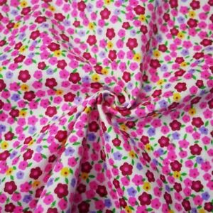100-Brushed-Cotton-Winceyette-Flannel-Fabric-Colourful-Ditsy-Floral-Flower