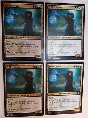 English x4 Frilled Mystic MTG Ravnica Allegiance U M//NM