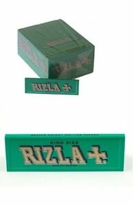 10-BOOKLETS-RIZLA-KING-SIZE-GREEN-ROLLING-PAPERS
