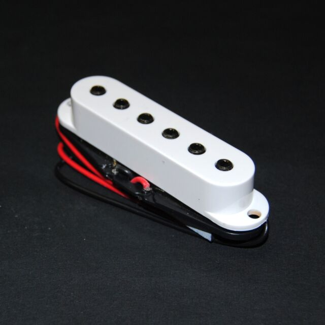 White Artec single coil pickup hexagonal pole for Stratocaster guitar