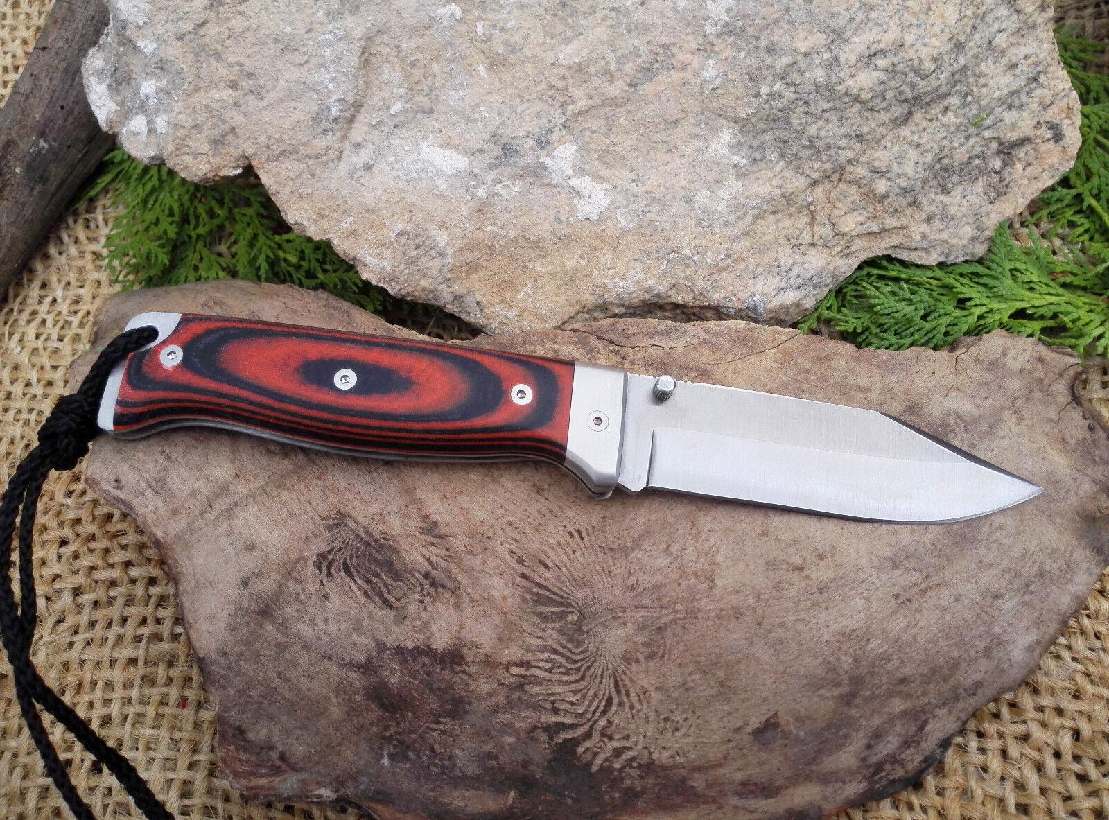 Navaja CUDEMAN MT-7 Hoja 10,9 Acero cm Acero 10,9 Bohler N695 Micarta Naranja Knive Messer 526dfd