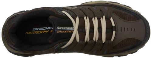 Afterburn Memory Sport Sneaker Brown up Lace Men's taupe foam Skechers 888222194062 Aq4WaA6
