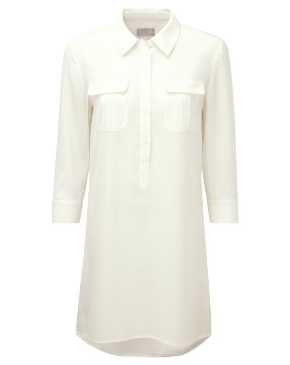 Pure Collection Silk Tunic Dress Ivory Größe UK 18 rrp  LF077 LL 05