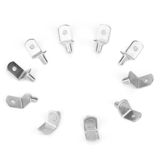 10pcs  Metal 10pcs Glass Shelf Bracket Cabinet Furniture Shelf Supports