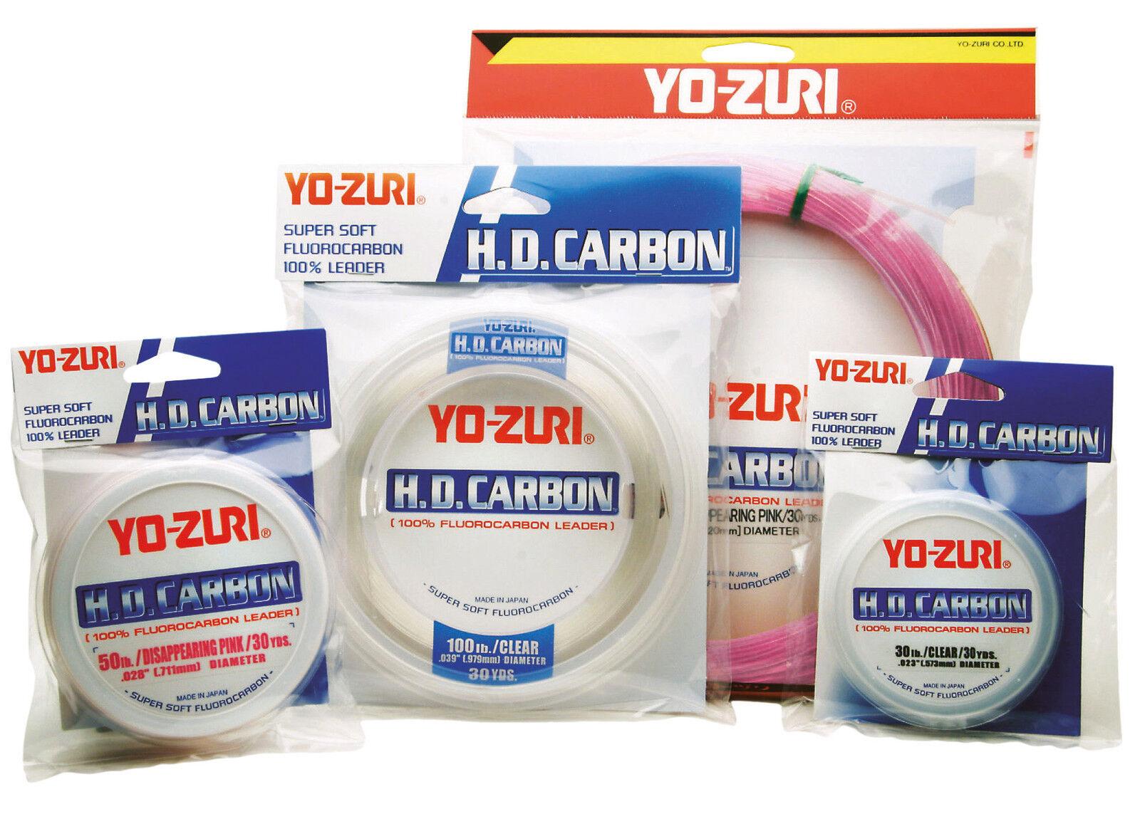 Fluorocarbon Yo-Zuri H.D. Carbon Leader Leader Leader - Rosa - 100 yds 795995