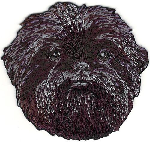 "2 1//4/"" x 2 1//2/"" Affenpinscher Head Portrait Dog Breed Embroidery Patch"