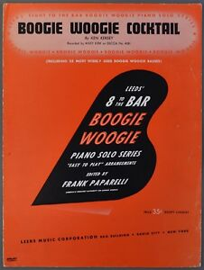 Details about 1943 BOOGIE WOOGIE COCKTAIL Piano Solo KEN KERSEY Frank  Paparelli Easy Arr