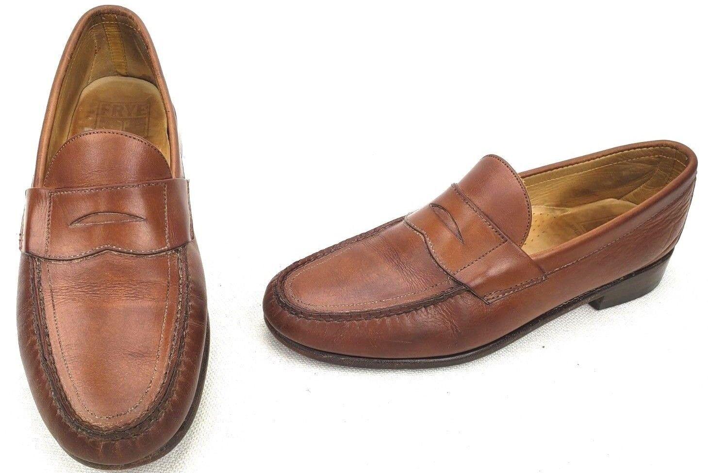Frye Homme Penny Mocassins chaussures en cuir marron 10.5 m