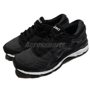 Asics-Gel-Kayano-24-Black-White-Women-Running-Training-Shoes-Sneakers-T799N-9016