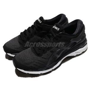 Asics-Gel-Kayano-24-Black-White-Women-Running-Training-Shoes-Sneakers-T799N-9016