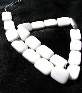 Elegant-Natural-White-Agate-20x15mm-Rectangle-Bead-Strand-108987