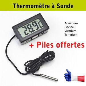 THERMOMETRE-a-SONDE-Aquarium-Piscine-Vivarium-Terrarium-Bassins-Serre-Ecran-LCD