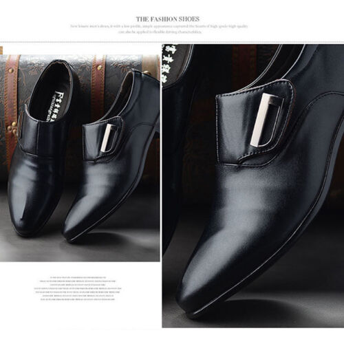 Men/'s Formal Office Work Shoes Casual Pointed Toe Wedding Shoes S