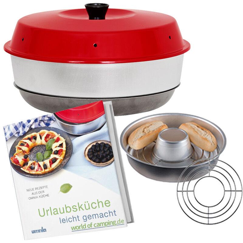 Omnia Camping Backofen Gitter Auflaufform Aufbackgitter Kochbuch Rezepte Ofen
