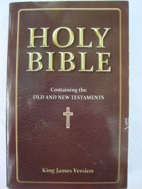 NEW The Holy Bible Old New Testaments KJV King James Version Brown Maroon
