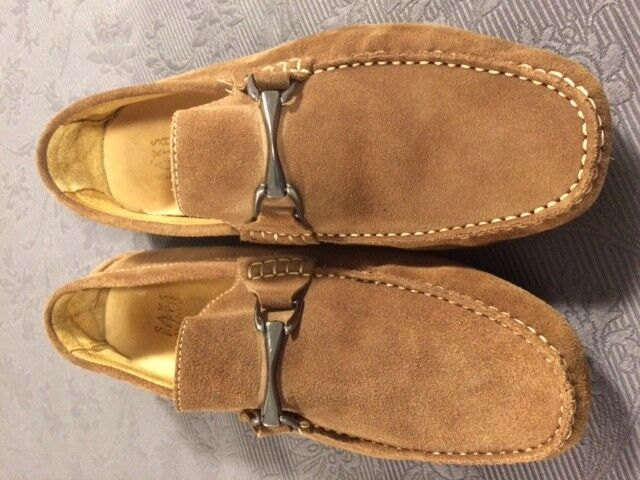 bluee Saks 5th Avenue Loafers Light Brown Suede - Size 11 1 2  - New