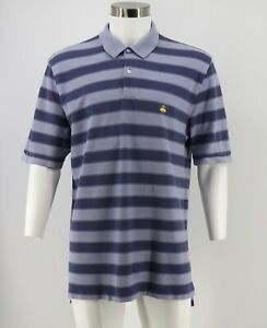Brooks-Brothers-Performance-Polo-Shirt-Size-XL-Blue-Striped-Original-Fit-Mens