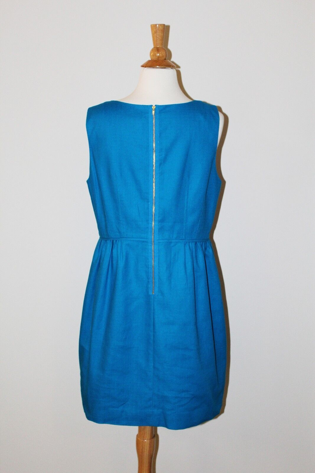43213e42bf2 ... NWT J CREW CREW CREW FACTORY Prussian bluee TEXTURED COTTON DRESS Sz 14  Style 50344 a53a7b