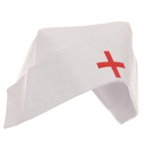 Cotton Nurse Hat With Red Cross Nurse Costume Hat 20334