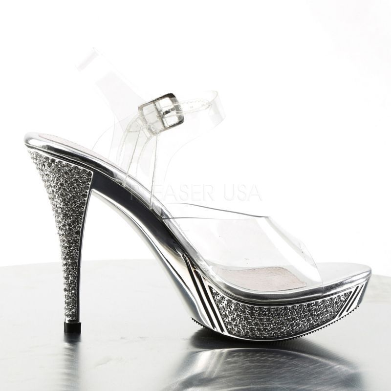 Fabulicious Sandaletten ELEGANT-408 Klar/Silber Klar/Silber Klar/Silber Chrome b305ec