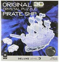 3d Crystal Puzzle Deluxe Pirate Ship Clear , New, Free Shipping on Sale