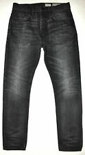 All Saints Spitalfields Truxton Taper Black Factory Faded Jeans 28 X 27.5 COOL