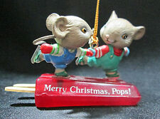 Enesco Merry Christmas Pops Mice Popsicle Treasury of Christmas Ornament Boxed