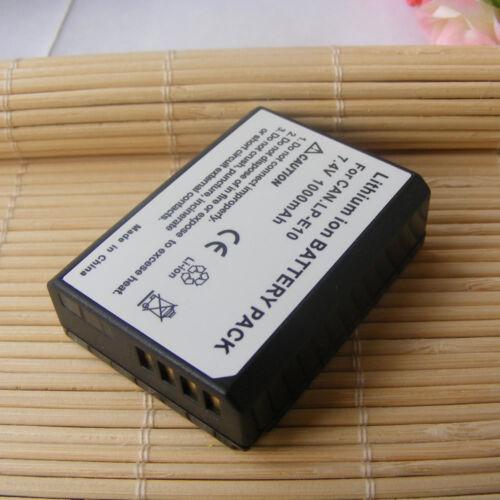 2 para Canon EOS 1300D EOS Rebel T6 EOS 2000D EOS 4000D 1000mAh Batería de dos