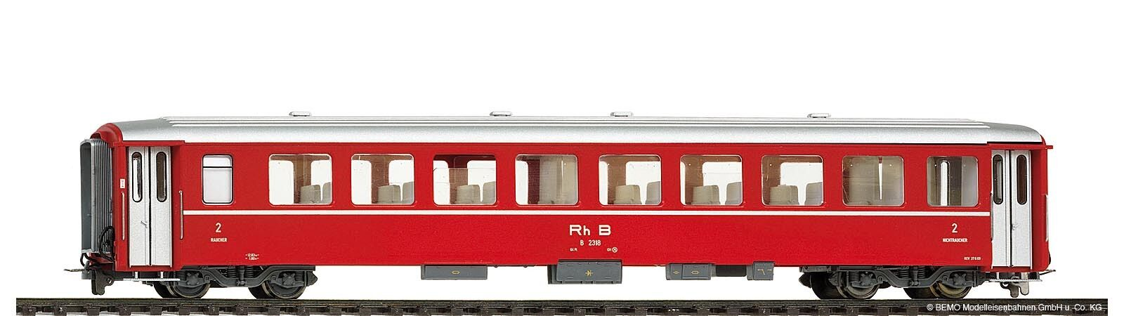 BEMO 3253118 vagoni B 2318 unità carro i RHB h0m