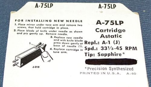 A-1-M A-1-J 150-S1 PHONOGRAPH RECORD PLAYER NEEDLE STYLUS for ASTATIC A-1