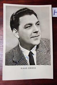 Postkarte-Ansichtskarte-Schauspieler-Autogramm-Klaus-Gross