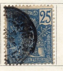 Indo China 1904 Early Issue Fine Used 25c. 091061