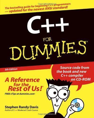 C++ For Dummies By Stephen R. Davis. 9780764568527