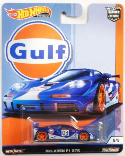 Gulf McLaren F1 GTR 1:64 Car culture Real Riders Hot Wheels NEU FPY86