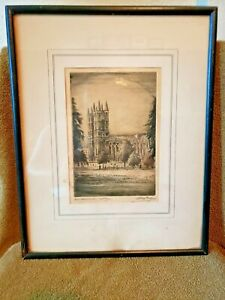 Vintage-Westminster-Abbey-Etching-Framed